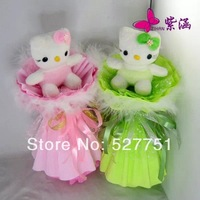 small plush toys Bouquet plush toys 10cm cute Hello Kitty toys children's day gift birthday gifts Wholesale free shipping