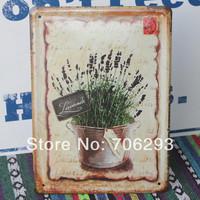 [Lucky Zakka] FLOWER metal tin signs Art wall decor House Cafe Restaurant Bar Metal Paintings 15x21cm TPH14032912