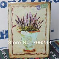 [Lucky Zakka] FLOWER metal tin signs Art wall decor House Cafe Restaurant Bar Metal Paintings 15x21cm TPH14032913