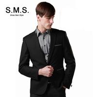 S.M.S.  Korean New Leisure Suit Men's Suits Men Black Casual Slim Brand Blazers Jacket Free Shipping 135092