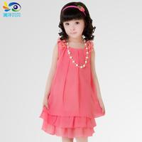 Female child summer one-piece dress 2014 child princess dress child one-piece dress