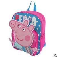 Peppa pig pink pig assuming pig female child school bag rose backpack