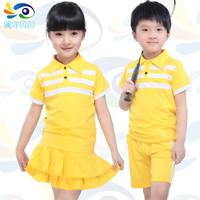 2014 child summer set unisex short-sleeve shorts kindergarten park service school wear performance wear