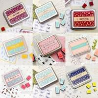 Korea stationery tin stamp full multi purpose diy photo album  (MA)