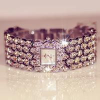 B79 Women quartz watch full fangzuan bracelet watch austria crystal rhinestone full rhinestone women's watch