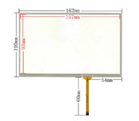 original New 7 inch 162mm*100mm touch panel digitizer For 4 line touch screen car DVD navigation touch screen