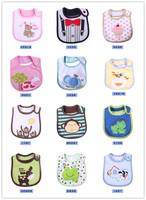 2014 Hot Sale Cotton Baby Bib Infant Saliva Towels Baby Waterproof Bib Cartoon Baby Wear With Different Model Free Shipping