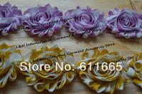 Free CPAM chiffon chic shabby rose flower lace for wedding dress,shabby sunflower hair flower ,30pcs/lot