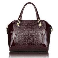 REAL LEATHER High quality 2013 women's handbag crocodile pattern women's handbag women messenger bag shoulder bag totes bag WL39