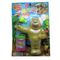 Child bear bubble gun night market kindergarten toy