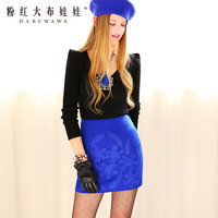 three-dimensional flowers exquisite woolen all-match bust skirt