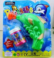 Fish bubble gun water carrying traditional toys toy gun