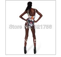 2014 Women Sexy Bandage Bikini Swimsuit Tiger Pattern Color Galaxy Printed Triangle Swimwear Lady suit YY035