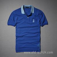 free men' s fashion turn-down collar short t-shirt  2 color  1820