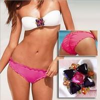 2014 Sexy Women Brand Beach Wear Swimsuit Vitoria Bikini Set with Diamond 3041 S/M/L