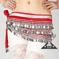 338 silver Coin Belly Dance Costume Waist Chain Emphasis Added Rang Velvet Fabric Belly Dance Belt TP 1006