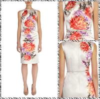 Free shipping 2014 summer new women's European and American fashion printing dress Slim Dress 2143440198
