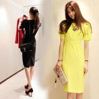 2014 Natural Chiffon Party Dresses Dresses Women Dress Arrival Fashion Brand Summer Elegant Plus Size Slim One-piece Women 366