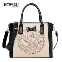 Bags 2014 women's handbag printing Cartoon ladies elegant messenger bag shoulder bag large bag