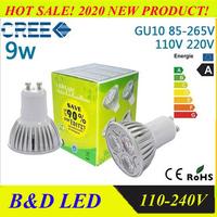 10PCS/LOT Dimmable / non-dimmable  9w/12W/15W  CE GU10 High Power LED Lamp,COB White LED Bulb Light Spotlight