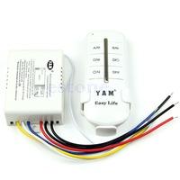D19Anti-interferen Wireless 4 Ways ON/OFF 220V Remote Control Light Lamp Switch