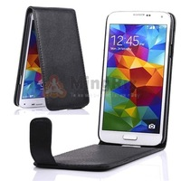 1Pc Black Luxury Magnetic PU Leather Case Flip Cover Pouch For Samsung Galaxy S5 SV I9600+Free Shipping