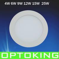Ultra thin 9W  led round ceiling light /down light /panel light , 20pcs/lot  85~265v,China post parcel  free shipping