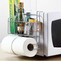 1pieceMicrowave sidewall side refrigerator shelving rack rag towel wrap debris Storage Rack Storage RacksJ129