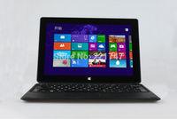 10.1'' 2G 32G/64G Intel Quard Core 1280*800 16:10 Windows 8 Laptop Tablet PC with Keyboard WiFI G-sensor HDMI DHL Free Shipping