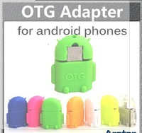 Free shipping Micro usb to USB OTG adapter for smartphone tablet pc connect to U flash/mouse/keyboard