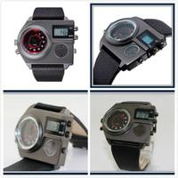 2014 Hot Sale Famous Brand LED Multiple time zones Sport Men's Leather Strap Watches Quartz Digital Men Military Watches DZ7262