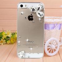 New Handmade Crystal droplets Rhinestone Case Cover for iPhone 4 4s case for iPhone 5 5s case cover Mobile Border Protection