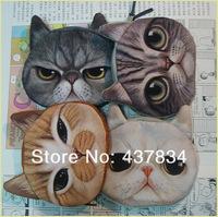 wholesale 20pcs/lot  fashion coin purses cute cat change purse cute coin purse bag women wallets women clutch