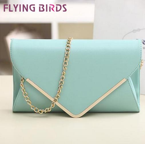 FLYING BIRDS ! 2014 Personalized envelope day clutch shoulder cross-body women's handbag 2014 women messenger bag wallet LS1795(China (Mainland))
