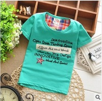 Футболка для девочек new Korean dot cotton short-sleeved T-shirt fashion