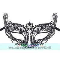 MJP-041B Wolf Style Metal Mask Hollow Out Mask Carnival Halloween Clear Rhinestone Mask Princess Masquerade Mask,50pcs/lot