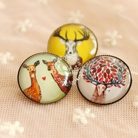 15pcs /lot wholesale 2014 fashion jewelry for women new design deer vintage retro crystal copper safety brooch pins for women
