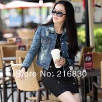 Hot Sale! Newest Fashion Women Ladies Jeans Denim Jacket Outwear Long Sleeve Vintage Short Coat. Free Shipping