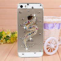 New Handmade Diamond Hollow S Rhinestone Case Cover for iPhone 4 4s case for iPhone 5 5s case Mobile Border Protection