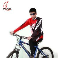 13 moon autumn and winter long-sleeve fleece ride service set car mountain bike clothes