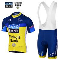 2013 saxo bank saxo summer short-sleeve suspenders ride clothing set male cycling clothing