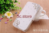 New 2013 camelliae flower diamond cover case for Samsung Galaxy Win Duos Case i8552 case i8550 i8558 free shipping
