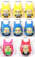 Free shipping 2014 New kids school backpacks children cartoon bag school backpacks minion  backpacks frozen bag 8 designs