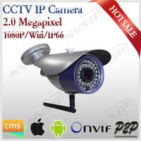 1080p Wireless IP Camera P2P Plug and Play outdoor ip66 waterproof wifi 2mp cctv cameras