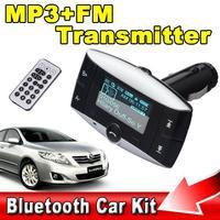1.5'' LCD Car Bluetooth MP3 Player Wireless FM Transmitter Handsfree Bluetooth Car Kit Support USB SD MMC + Remote Control