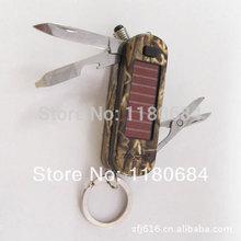 Free shipping multifunctional solar lights lighter/knife automatic/knife automatic knife/(China (Mainland))