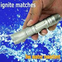 2014Wholesale - 5m waterproof sliver green laser pointer ignite black match adjustable Strong laser torch 100mW better than fake