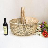 Quality rattan cane basket cleaning gift picnic basket storage basket
