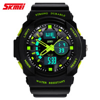 Male sport watch dual display outside hiking waterproof electronic watch male led multifunctional watch
