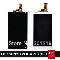 For Xperia ZL L35h LT35 LT35i LCD Screen Display Touch Screen Digitizer Assembly Black OR White